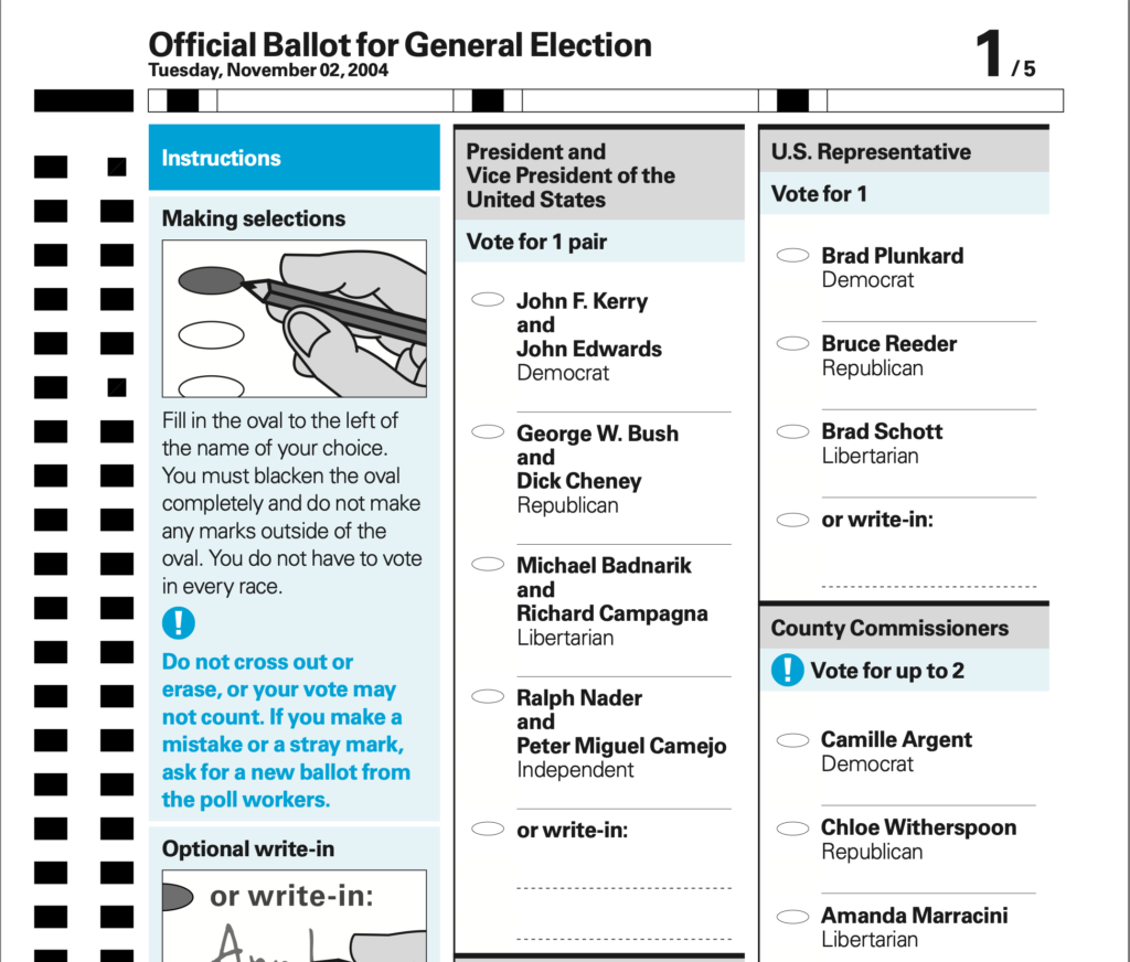Screenshot of the AIGA proposed ballot design. Original is at https://www.aiga.org/globalassets/migrated-pdfs/dfd_opticalscan_sampleballot_proposed