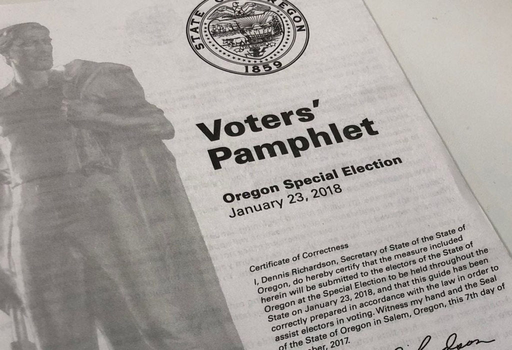 Photograph of an Oregon Voters' Pamphlet